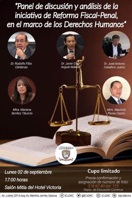 Panel de discusión y análisis de la iniciativa de Reforma Fiscal-Penal, en el marco de los Derechos Humanos