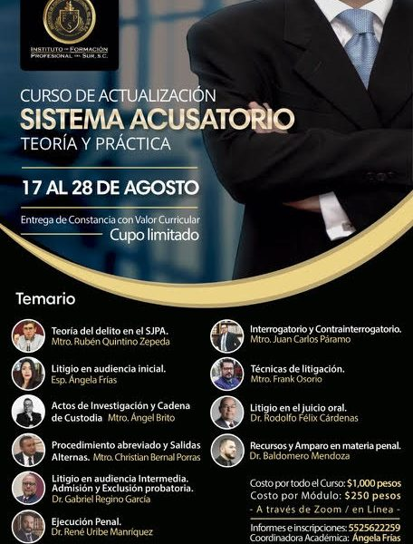 Curso de Actualización Sistema Acusatorio, Teoría y Práctica